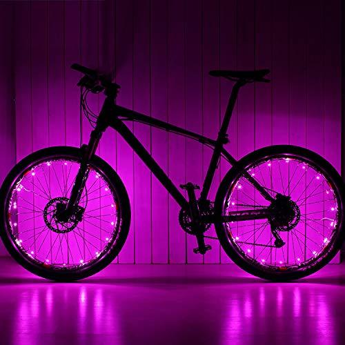Keyian Gifts for Teenage Boys 13-18, Bike Wheel Lights Waterproof Led Bike Lights for Wheels Kids Boys Spokes Rims Cool Toys for Teens Boys Girls Toys Age 5-12 Purple