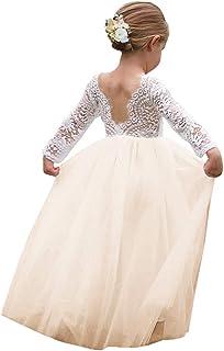 US Seller Ivory Wedding Party Flower Girl Bridesmaid Dresses 12-18M 3//4 5//6 8 10