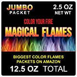 Magical Flames Jumbo Create Colorful & Vibrant Flames for Fire Pit - Campfire, Bonfire, Outdoor Fireplace – Magical, Colorful, Rainbow, Mystic Flames – Twice The Color – Half The Price (5)