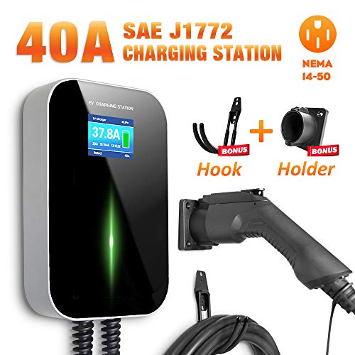 BESENERGYEVCharging Station 40 Amp Level2 Electric Vehicle Charger EVSE9.6kw CompatiblewithAll SAE J1772EVCars
