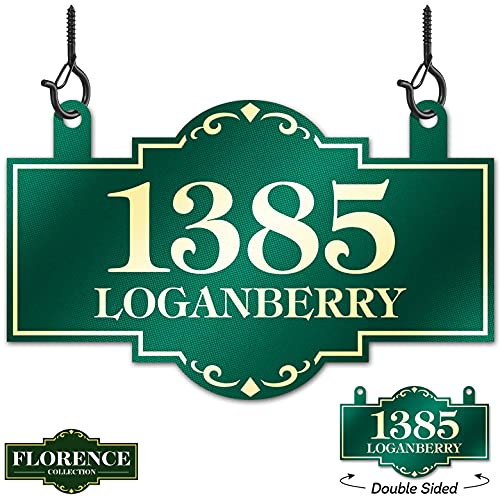 Double sided Hanging Address Sign, 8