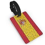 Etiqueta para equipaje de la bandera de España, etiqueta para maleta, accesorios de viaje, tarjetas de identificación para equipaje o identificador de viaje