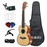 Nrpfell Ukelele AcúStico Tenor Set 26 Pulgadas Abeto Madera Ukelele 4 Cuerdas Instrumento de MúSica de Guitarra Hawaiana