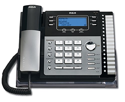 RCA ViSys 25424RE1 4-Line Expandable System Speakerphone with Call Waiting/Caller ID/Intercom,Silver
