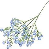 YYHMKB Flores Artificiales de plástico Gypsophila DIY arreglo de Ramos Florales para Boda decoración del hogar Azul