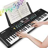 61 Teclado Electronico Teclado Portatil, Electronico Piano con Atril Piano Digital, Teclado de Piano...
