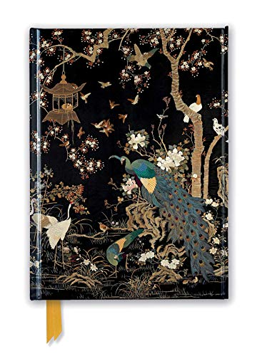 Ashmolean Museum. Embroidered Hanging With Peacock (Foiled Journal) (Flame Tree Notebooks) (Premium Notizbuch DIN A 5 mit Magnetverschluss)