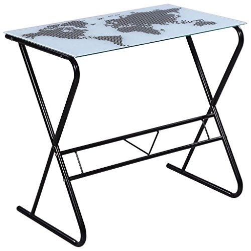 Nyyi Einfacher Computertisch Computertisch Schreibtisch Bürotisch Arbeitstisch Einfacher Schreibtisch Computerschreibtisch Modern - Oberseite des Ausgeglichenen Glases 80 x 50 x 75 cm (L x B x H)