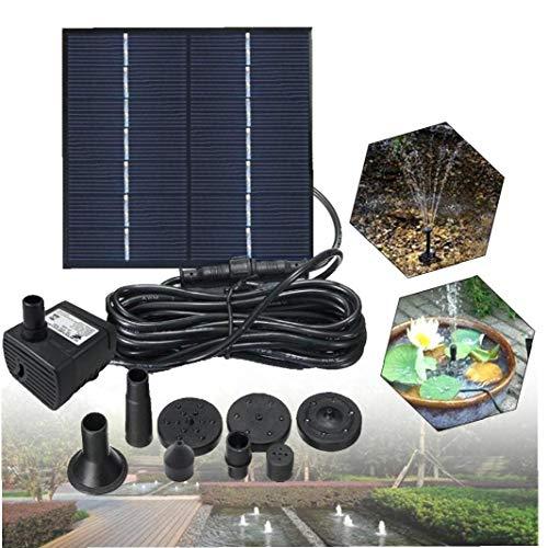 Tuimiyisou La Bomba de Agua Fuente Solar para el baño del pájaro 1,2 W de energía Solar Fuente Fuentes al Aire Libre de pequeño Estanque, Piscina, jardín del Patio