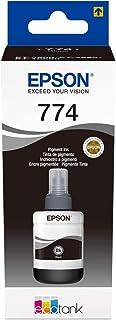 Epson 7741 EcoTank Ink Bottle, Pigment Black Ink for Printer Refill, 140ml
