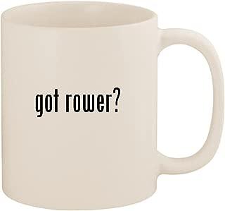 got rower? - 11oz Ceramic White Coffee Mug Cup, White