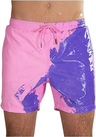 XS Viola Gelentea Uomini Pantaloncini Magici Cambia Colore Spiaggia Pantaloncini Uomini Nuoto Trunks Costumi Da Bagno Asciugatura Rapida Pantaloncini