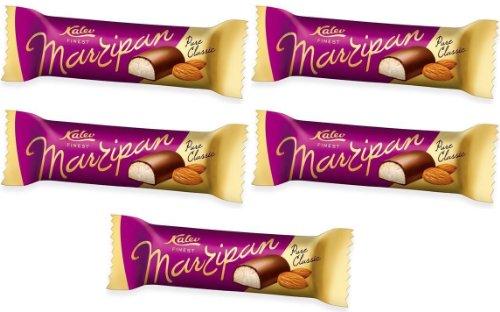 Marzipan Bar Abgedeckter mit Schokolade Glanz (Mandeln) Kalev Beste [Packung mit 5 stück]