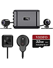 VIOFO MT1 Motorcycle Dash Cam Front and Rear 1080P Dual Channel Waterproof Motorbike Camera 170 Degree Angle, Built-in WiFi, GPS, G-Sensor, Waterproof, Auto On/Off, Support 256GB Max, Loop Recording