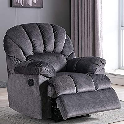 Fabric Recliner Chair - Manual Reclining Chair for Living Room