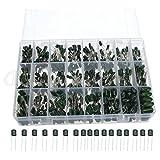 DollaTek 100V 24value 660pcs Condensador de película de poliéster assorstment Cuadro Caja surtida