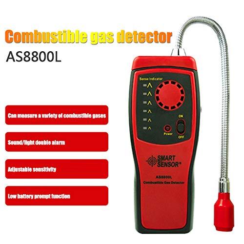 Tragbare Gaslecksucher Brennbare Propan Methan-Gas Sensorr mit Ton Warnung einstellbare Empfindlichkeit und Flex-Sonde Erdgas-Detektor
