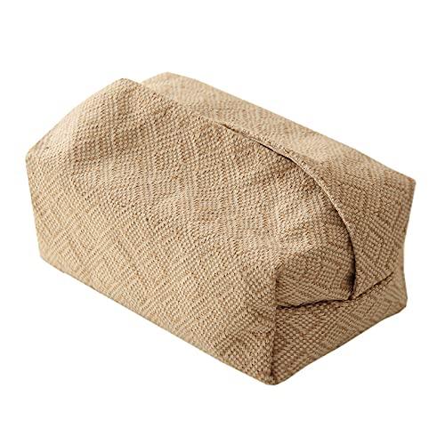 beizi Servilletero de yute para sala de estar, mesa, cajas de pañuelos para el hogar, papel de coche, dispensador de papel (color: tipo)