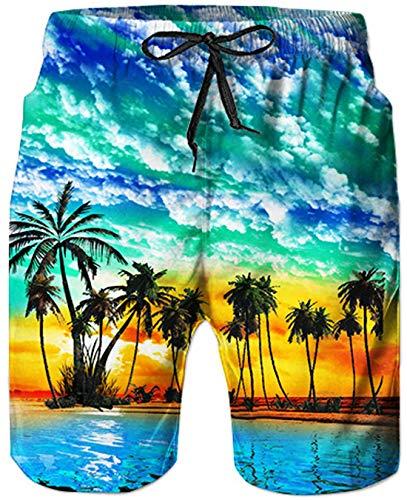 costume mare uomo hawaiano Goodstoworld Pantaloncini da Bagno Uomo Costume da Hawaii Uomo Boxer con Tie Anteriori Pantaloni Regolabile Costumi da Surf S