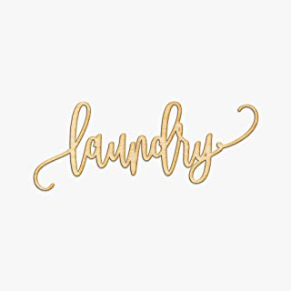 Laundry Wood Sign Home Décor Wall Art Unfinished 12