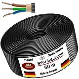 Cable de alimentación subterráneo, 5, 10, 15, 20, 25, 30, 35, 40, 50, 75, 80 o 100 m, NYY-J 3 x 1,5 ...