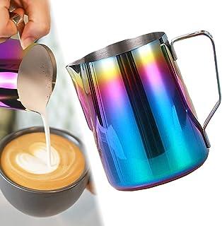 ابريق تبخير حليب من ميبرو لتبخير الحليب MIBRU Stainless Steel Espresso Coffee Pitcher Barista Kitchen Home Craft Scale Cof...