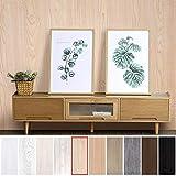 KINLO Pegatina de Mueble de Madera Ropa 0,61 * 5M Autoadhesivo Papel Pintado Impermeable para Muebles/Cocina/Baño Color (1 Rollo, Madera 1)