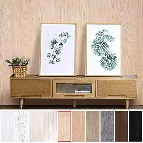 KINLO Folie Möbel beige-gelb 5x0.61M selbstklebefolie aus hochwertigem PVC Dekorfolie für Schrank Möbelsticker die Möbel verschönen Küchefolie Wasserdicht leicht reinigen ANTI-ÜL