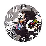 ゴリラアート 置き時計 掛け時計 壁掛け時計 丸い時計 サイレント デジタル時計 おしゃれ 家の装飾