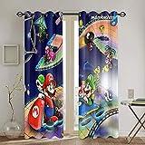 Super Mario Odyssey Cortinas opacas para sala de estar, dormitorio, decoración de 132 x 213 cm