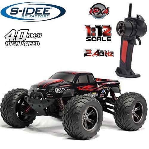s-idee® 18175 9115 RC Auto Buggy wasserdichter Monstertruck 1:12 mit 2,4 GHz über 40 km/h schnell, wendig, voll proportional 2WD ferngesteuertes Buggy Racing Auto
