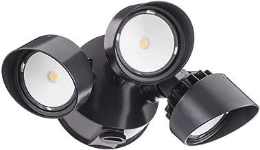 Lithonia Lighting OLF 3RH 4000K 120 PE BZ M4 Adjustable LED Security Floodlight Dusk-to-Dawn Photocell, 120 Volts, 36 Watts, Bronze (Renewed)