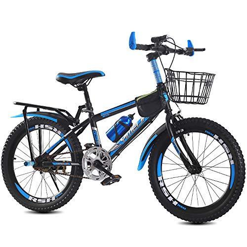Kinderfahrrad für Jungen und Mädchen ab 8-15 Jahre | 20/22/24 Zoll Kinderrad mit Bremse | Fahrrad für Kinder | Mountainbike Jugendfahrrad (Blau Schwarz,22)