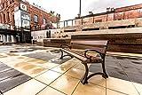 Banco de exterior Gótico Bis, de madera y hierro fundido, resistente y durable