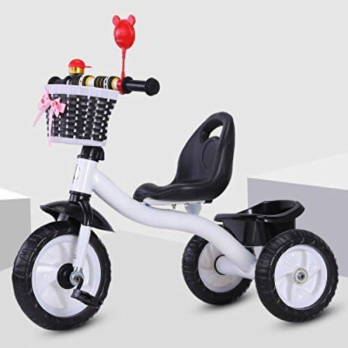 QXMEI Kinder Dreirad Fahrrad 1-3-2-6 Jahre Alt Trolley Baby Fahrrad Junge Kinder Fahrrad,Weiß2