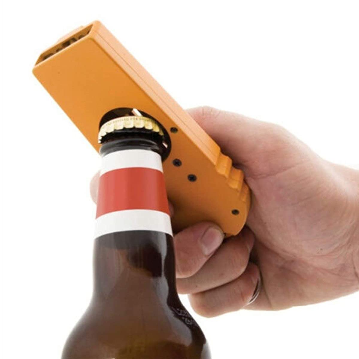 Bottle Opener - Plastic Flying Cap Zappa Beer Opener Wine Liquor Alcohol Bottle Ejection Gun Ejector Design - Bulk Deer Caps Divot Parts Glitter Cute Name Threaded Multi Rechargeable Electric