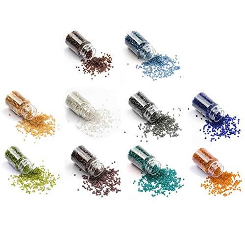 10 Color 2mm Mini Pony Semilla de Cristal Cuentas Cuentas Pulsera Collar Joyería Fabricación de Plata Pulsera