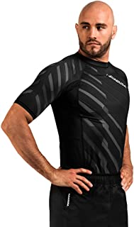 Hayabusa Metaru Rash Guard for Men | Short Sleeve | Brazilian Jiu Jitsu