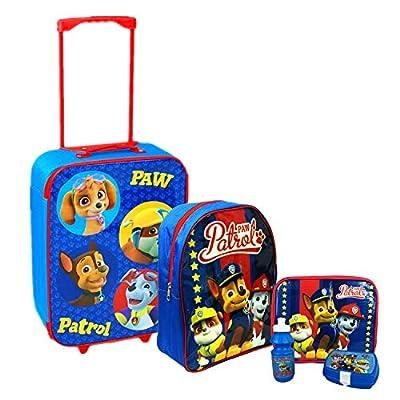 Nickelodeon, Patrulla Canina - Juego de maleta con ruedas, mochila escolar y bolsa para el almuerzo de Nickelodeon® Paw Patrol