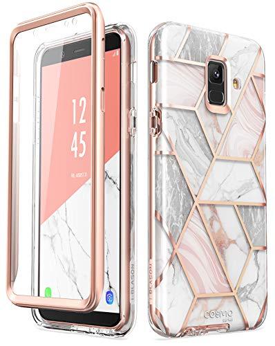 Capa protetora i-Blason projetada para Samsung Galaxy A6, protetor de tela integrado Cosmo Series Full Body Glitter Sparkle Capa protetora para Galaxy A6 (versão 2018) (Mármore)