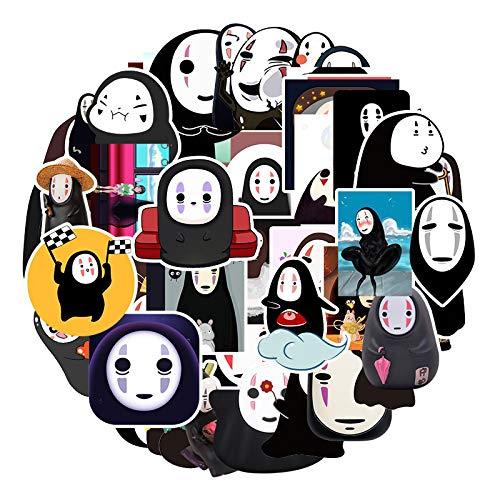 DONGJI Bonita Maleta de Equipaje Masculina sin Rostro con Personalidad de Dibujos Animados, Pegatina Impermeable para Ordenador portátil, 50 Uds.