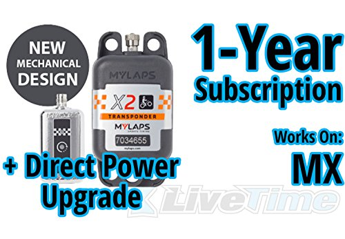 New MyLaps X2 Transponder, Direct Power, for MX (motocross), includes 1-Year Subscription