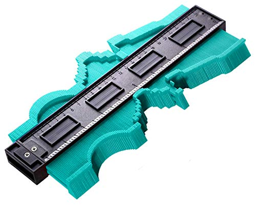 10 Inch Contour Gauge Irregular Profile Gauge Duplicator Tiling Laminate Tiles Edge Shaping Wood Measure Ruler Plastic Woodworking Tools Profile Jig Guide