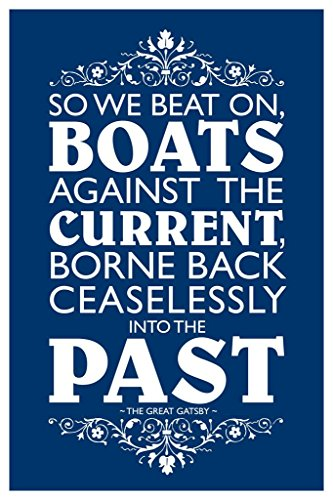 So We Beat On Boats Against The Current Blue The Great Gatsby Cool Wall Decor Art Print Poster 24x36
