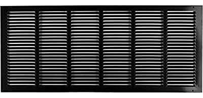 """30""""w X 12""""h Steel Return Air Grilles - Sidewall and Ceiling - HVAC Duct Cover - Black [Outer Dimensions: 31.75""""w X 13.75""""h]"""