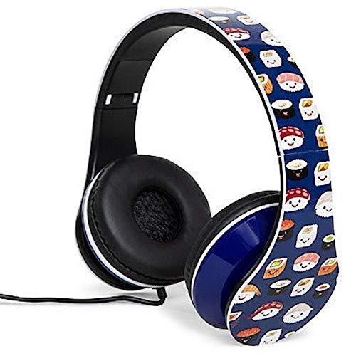 Folding Fatheads Sushi Emoji Stereo Headphones