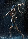 Affiche de danse en métal enseigne murale danseuses cadeau enfants, A4 - Poésie puissante duet impression de danse