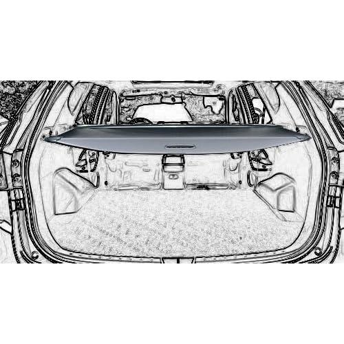 Cargo Cover Retractable For 15-18 Hyundai Santa Fe Sport Security Rear Trunk black by