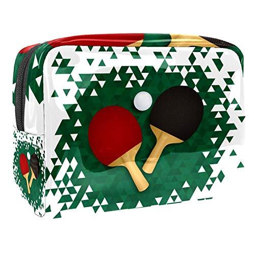 Bolsa de Aseo Hombres y Mujeres Bate de Ping-Pong para Niñas Organizador de Bolso Cosmético Accesorios de Viaje Bolsa de Viaje Bolsa de Lavado 18.5x7.5x13cm