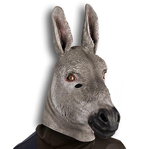 Carnival Toys Âne Gris Masque qualité Grand Masque en Latex Souple 1168 []